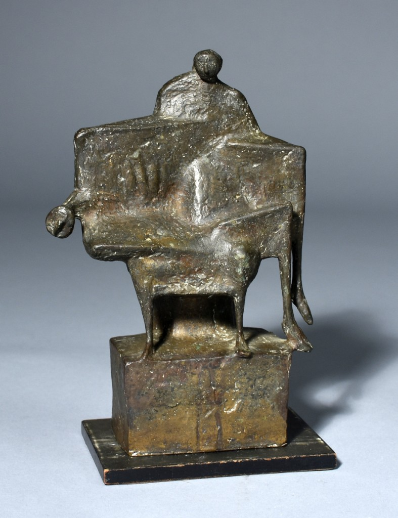 """Fritz Koenig's bronze, """"Pieta,"""" was almost 12 inches tall and sold for $20,700."""