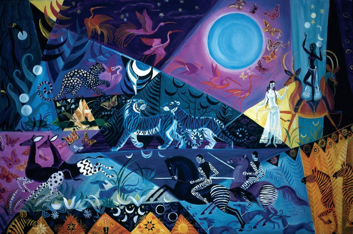 """""""Blue Moon Night,"""" 1990, oil on linen, 30 by 26 inches. Private collection."""