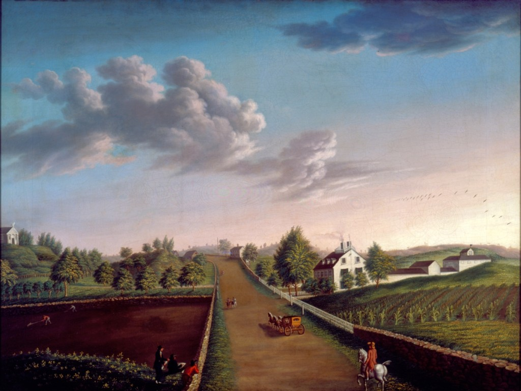 """""""Ezekiel Hersey Derby Farm"""" by Michele Felice Corné (1752–1845), circa 1800, oil on canvas, 40 by 53 inches. Historic New England, gift of Bertram K. and Nina Fletcher Little."""