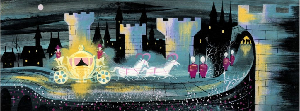"""Mary Blair's """"Cinderella Magic Coach"""" concept painting (Walt Disney, 1950) sold for $60,000."""