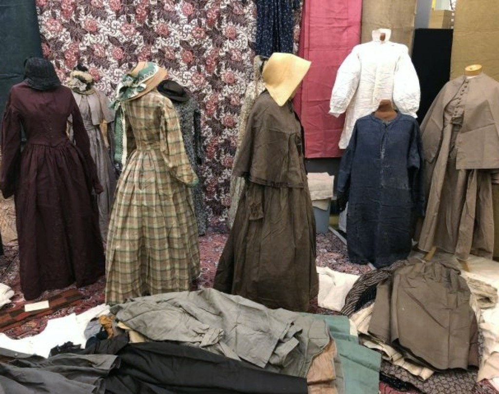 Generations of clothing had been carefully packed away for years. These dresses sold individually, most in the $300 to $500 price range.