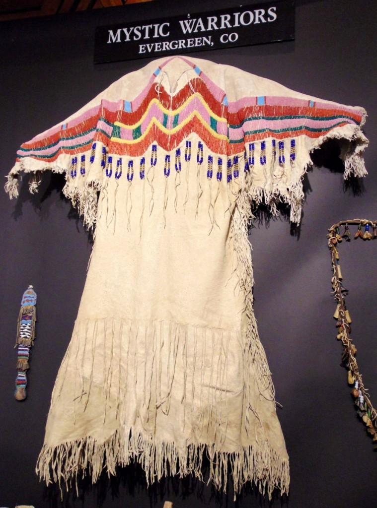 Nez Perce dress with beadwork yoke trim, 1870, $45,000. Mystic Warriors, Evergreen, Colo.