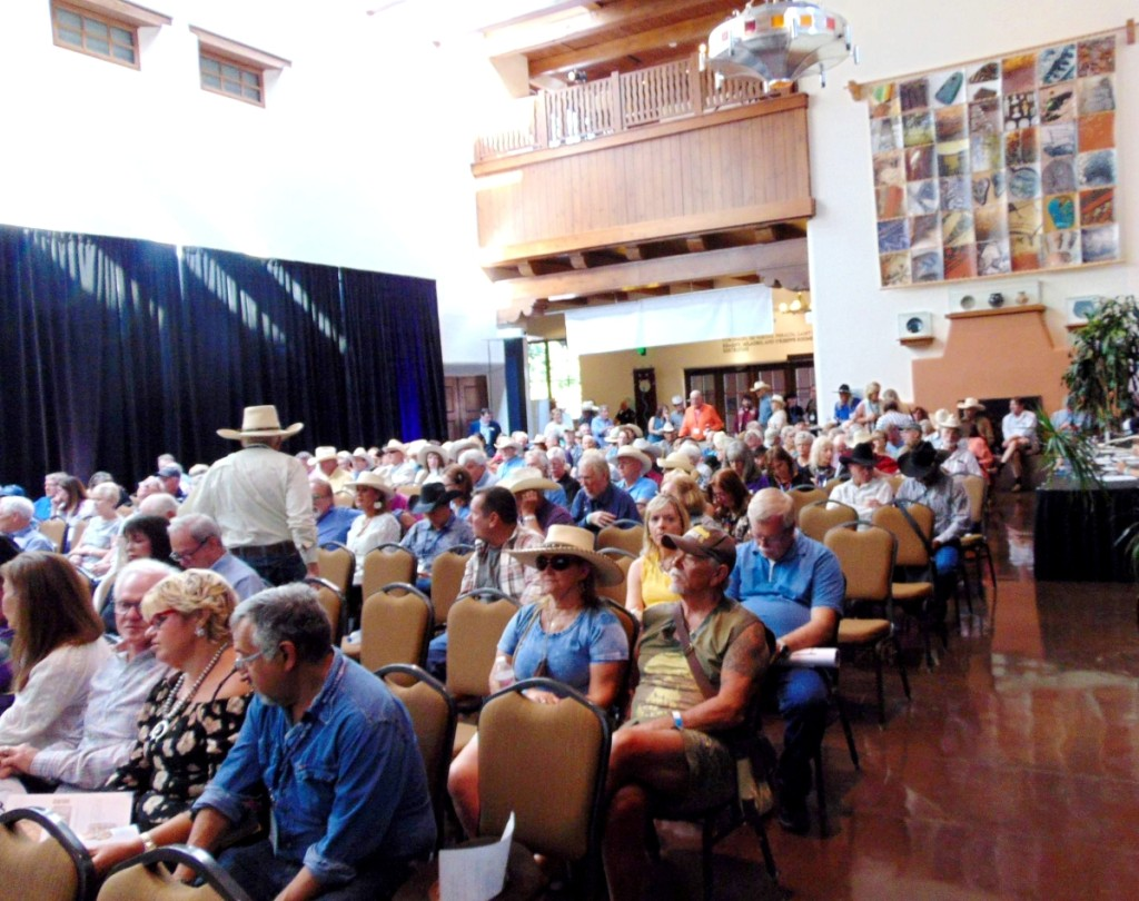 More than 275 patrons jammed the Convention Center for Brian Lebel's Cody Old West Auction, conducted for the first time in Santa Fe.