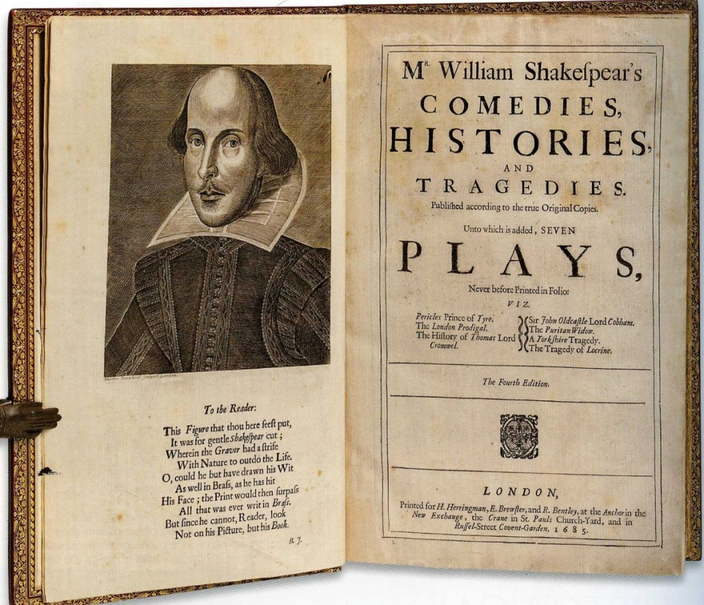 "The 1685 Fourth Folio of Mr William Shakespear's Comedies, Histories, and Tragedies, published according to the true Original Copies, which sold for $50,430, was the top priced book in the sale. The title page stated: ""Seven Plays, Never before Printed in Folio."""