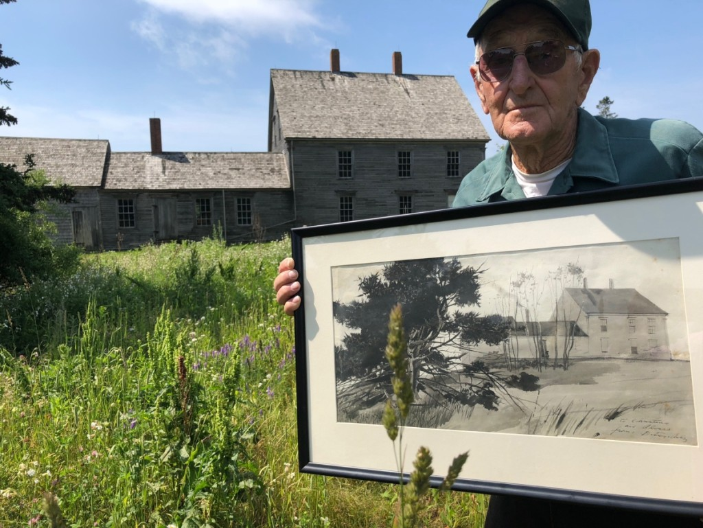 """The last painting Andrew Wyeth did of the Olson farmhouse (of """"Christina's World"""" fame)   held here by a nephew, will be included in the August 25–26 sale."""