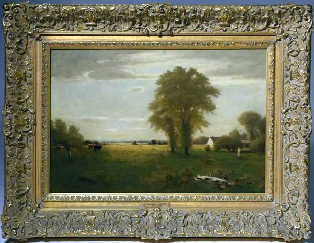 """Calling In The Cows"" by George Inness sold for $14,950. Signed and dated 1887, it was the highest priced painting in the sale."