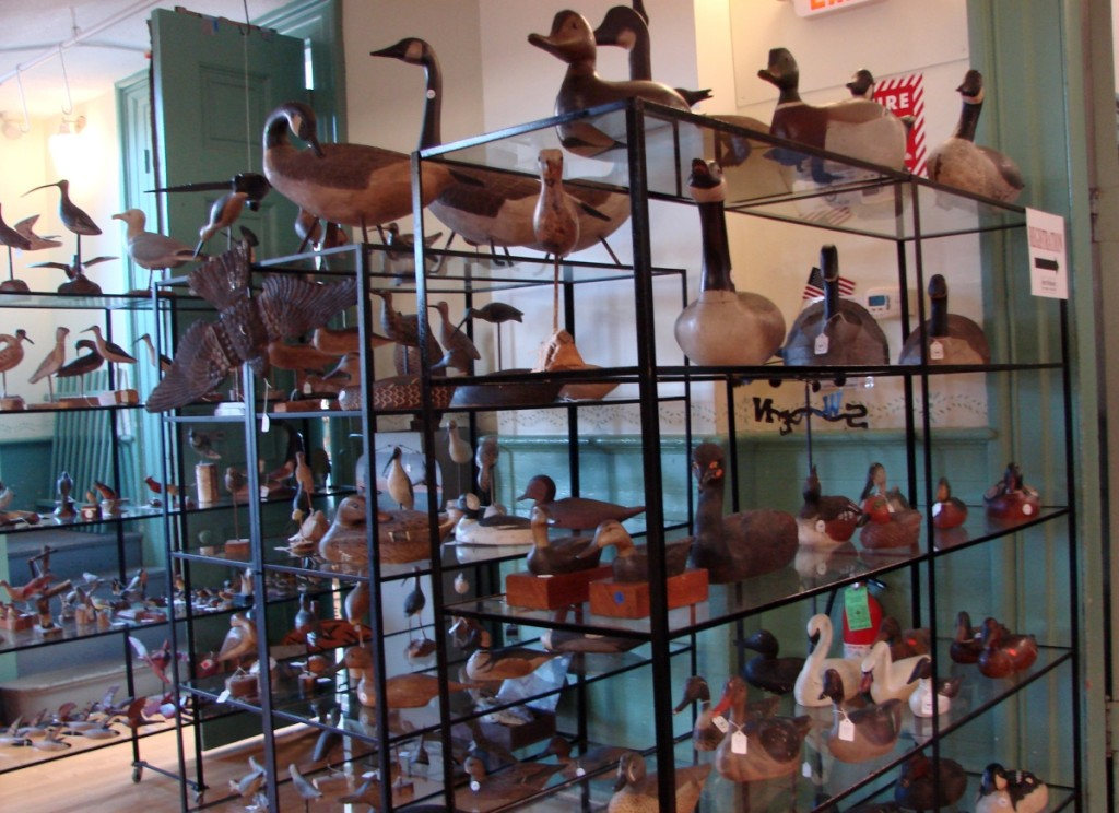 There were multiple lots of almost everything, as this picture of the decoys shows.