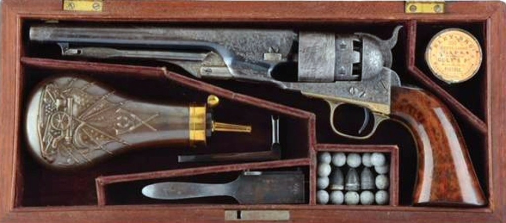 "This factory-engraved presentation 1860 Army Colt inscribed ""To Maj. Gen. W.S. Rosecrans"" was bid to $159,900."