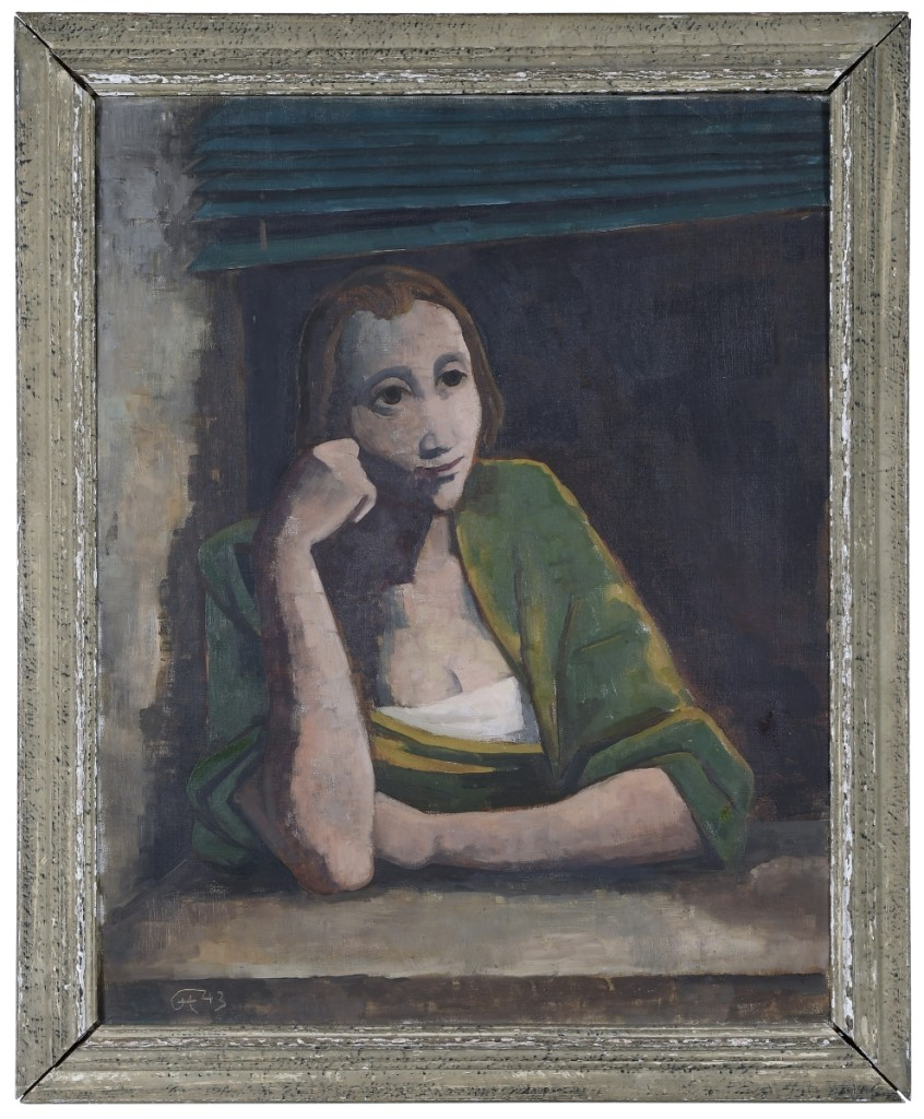 "Taking top honors was ""Woman in Green"" by Karl Hofer, which nearly doubled its presale estimate ($100/150,000) to sell for $180,000."