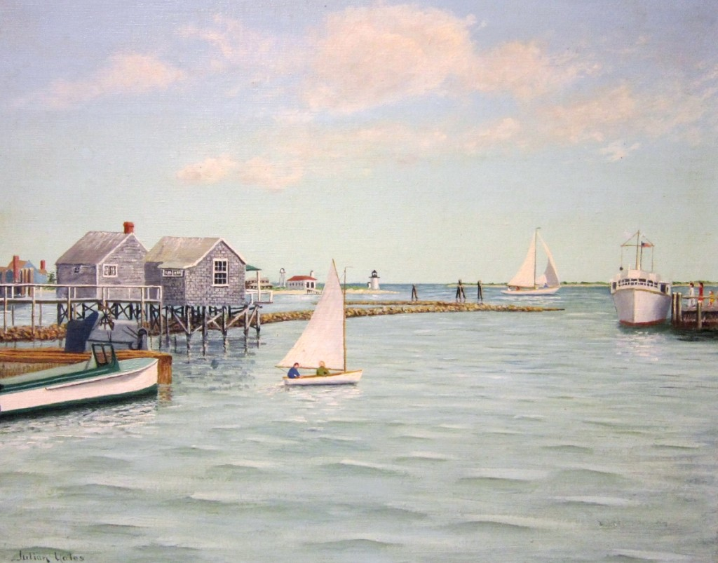 """""""Untitled (Harbor)"""" by Colonel Julian Yates (1872–1953), 1944. Oil on canvas. Gift of the Friends of AAN, AAN Collection"""