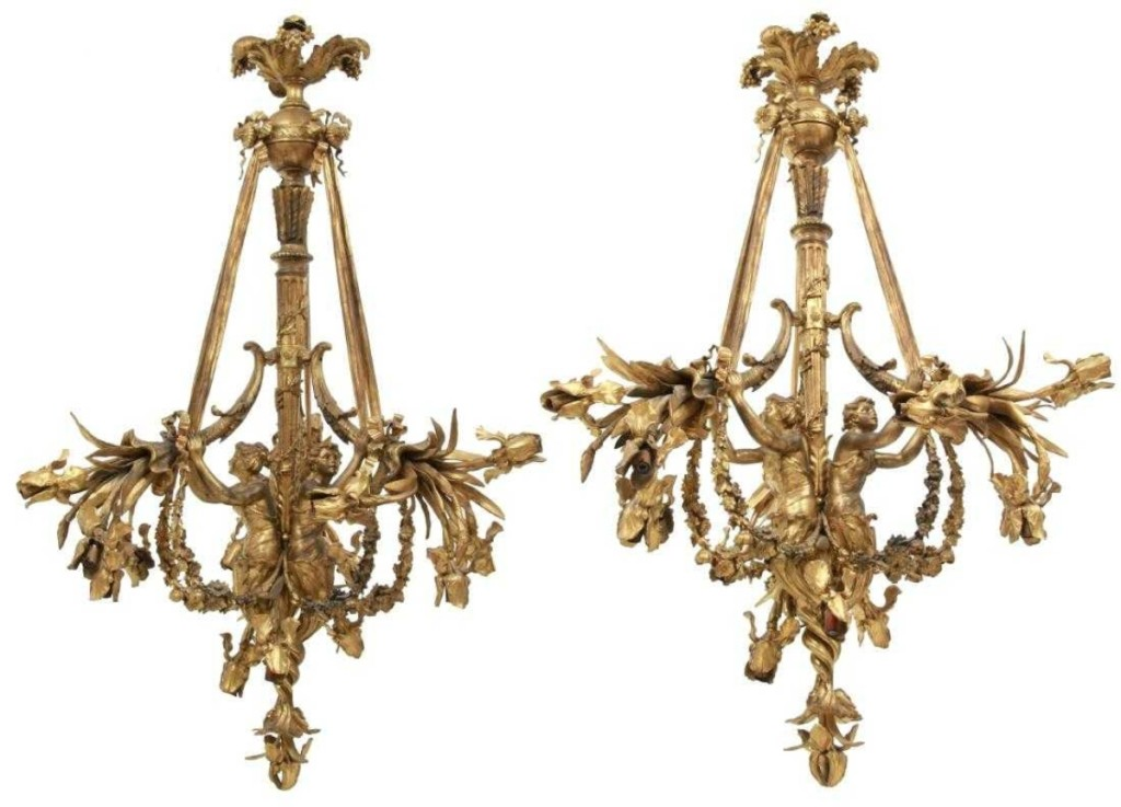 gilt chadeliers Fontaine's