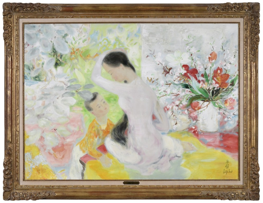 "Finishing in second place was ""Mère et l'enfant"" by Le Pho (French/Vietnamese, 1907-2001), that more than tripled its high estimate ($30/50,000) to end at $162,000."
