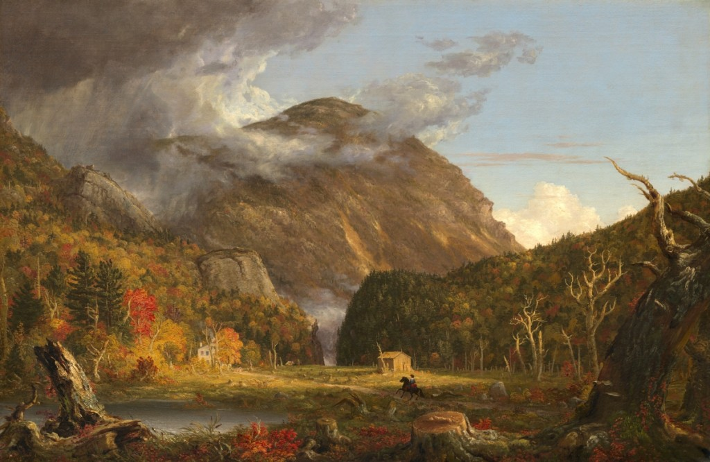 """""""A View of the Mountain Pass Called the Notch of the White Mountains (Crawford Notch)"""" by Thomas Cole (American, 1801–1848), 1839. Oil on canvas. National Gallery of Art, Washington, Andrew W. Mellon Fund."""