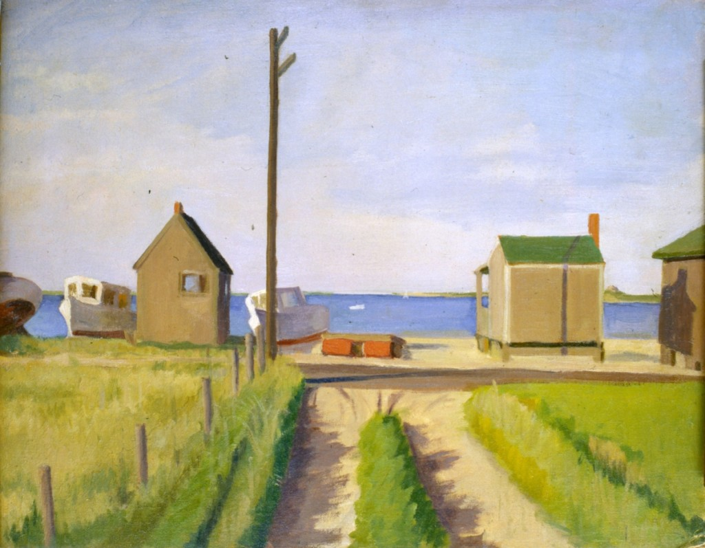 """Washington Street"" by Inna Garsoian (1896–1984), circa 1940. Oil on canvas. Gift of Nina Garsoian, NHA Collection"