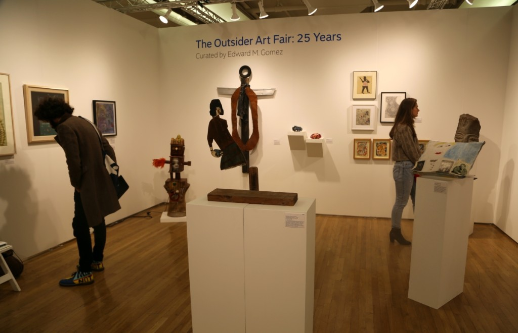 Opening night, 2017 Outsider Art Fair.   —Antiques and The Arts Weekly photo