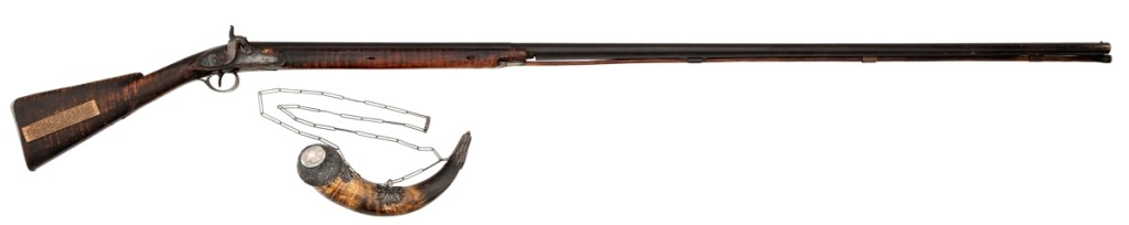 The favorite hunting rifle of John James Audubon (1785–1851), his Long Tom, was the top selling lot of the day fetching $192,000.