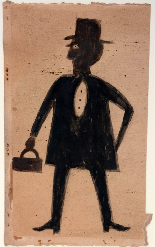"Bill Traylor is always a top seller at Slotin Auctions. This Traylor drawing, ""Doctor,"" brought this sale's second highest bid at $55,200."