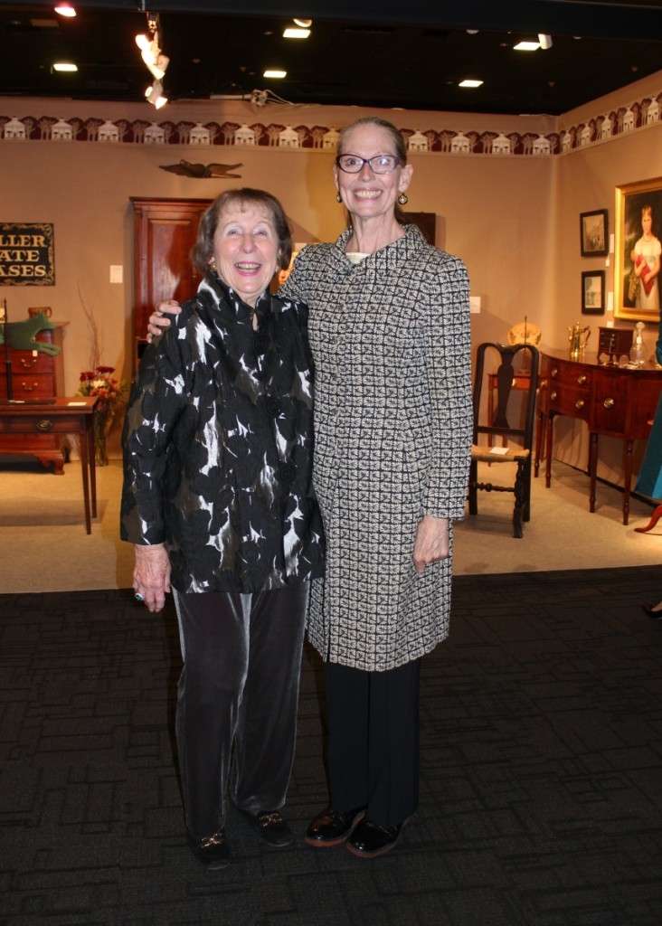 Winterthur museum trustee and collector's circle member, Marjorie P. McGraw, with Clifford Harvard.