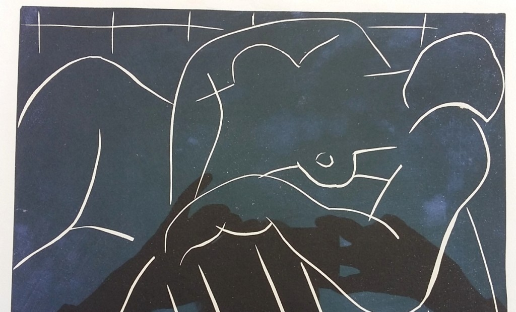 """Submitted to Mearto.com, this Henri Matisse linocut titled """"La Sieste,"""" 1938, was valued at $10,000."""