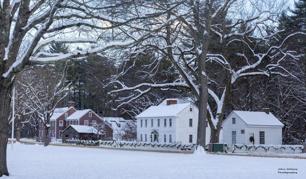 Old Sturbridge in winter. John Collins photography.