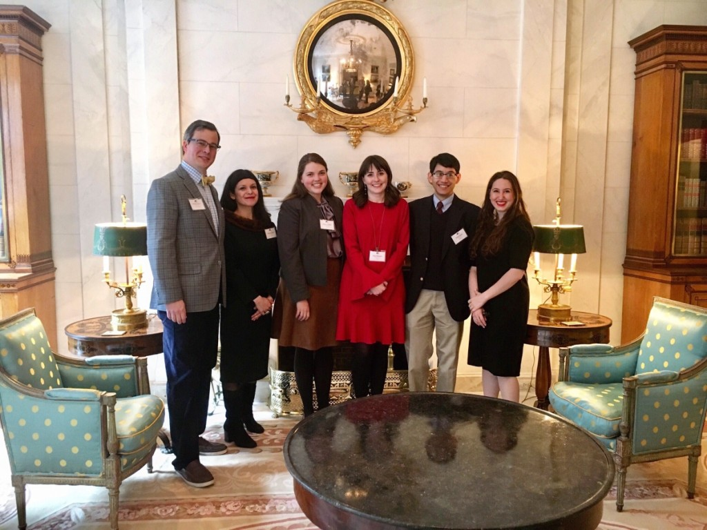 Speakers with Decorative Arts Trust director Matthew A. Thurlow, left, at last year's Emerging Scholars Colloquium. Organized by the Decorative Arts Trust, in partnership with the Classical American Homes Preservation Trust, the 2019 colloquium is planned for Sunday, January 20.