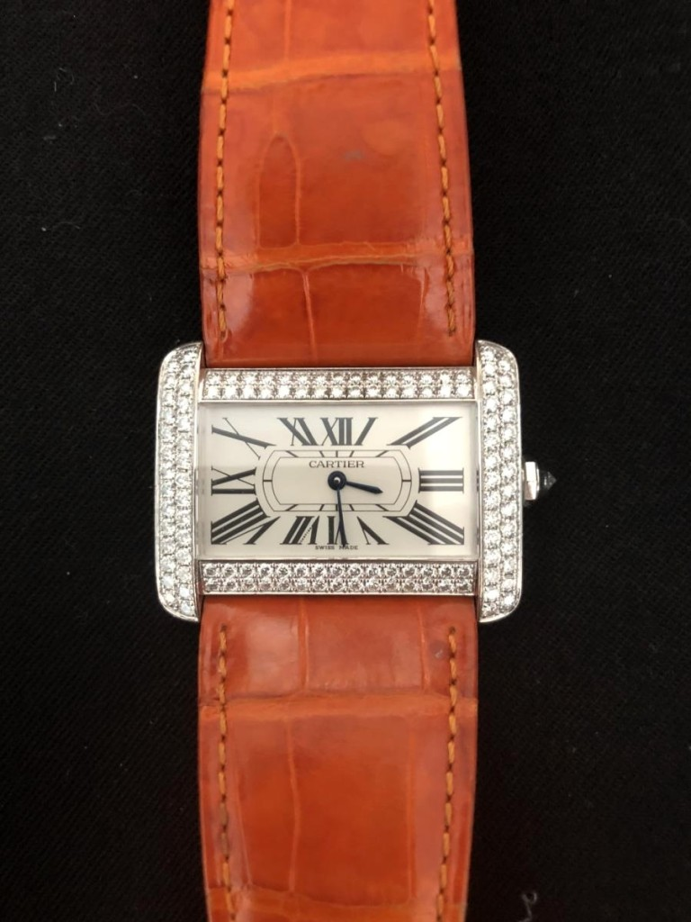 Submitted for appraisal to ValueMyStuff was this Cartier women's wristwatch. It was appraised at $10,000.