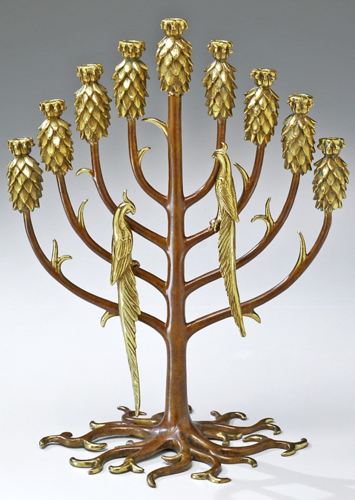 Tree of Life by Erté (Romain De Tirtoff), 1987, Farmingdale, N.Y., polished bronze, the Jewish Museum, bequest of Dr Louise Jacobson, 2004-28.