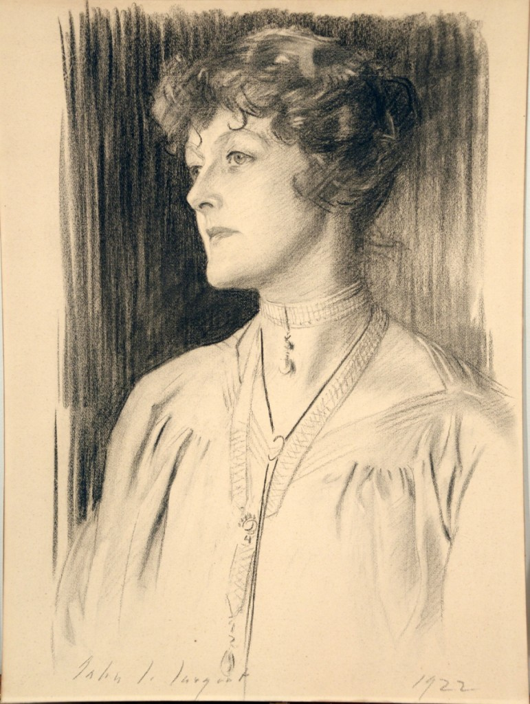 The highest selling drawing was this 1922 portrait of Ethel Sanford by John Singer Sargent, which squeaked past its high estimate ($20/40,000) to finish at $42,700.
