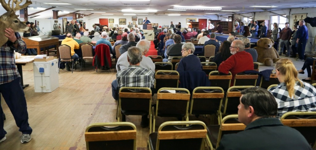 The auction hall was packed January 1. Ingraham has been doing New Year's sales for 15 years now, and many of the buyers on hand have made the auction a tradition of their own.