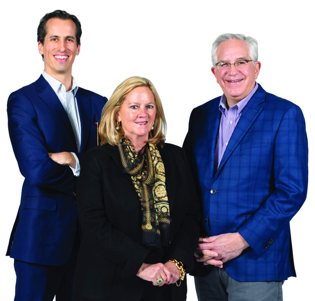 Hindman team: Thomas Galbraith, Leslie Hindman and Wes Cowan