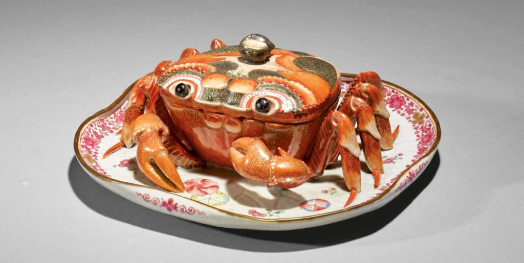 Leading the sale of the collection of Nelson and Happy Rockefeller was this Chinese export crab-form tureen and cover, Qing dynasty, Qianlong period, which finished at $375,000 ($100/200,000).