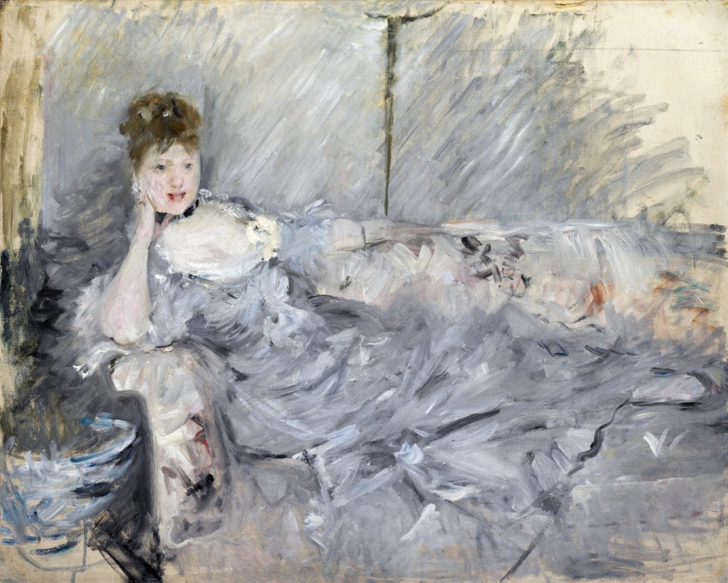 """Woman in Grey Reclining"" by Berthe Morisot, 1879. Oil on canvas, private collection. Photo by Christian Baraja."