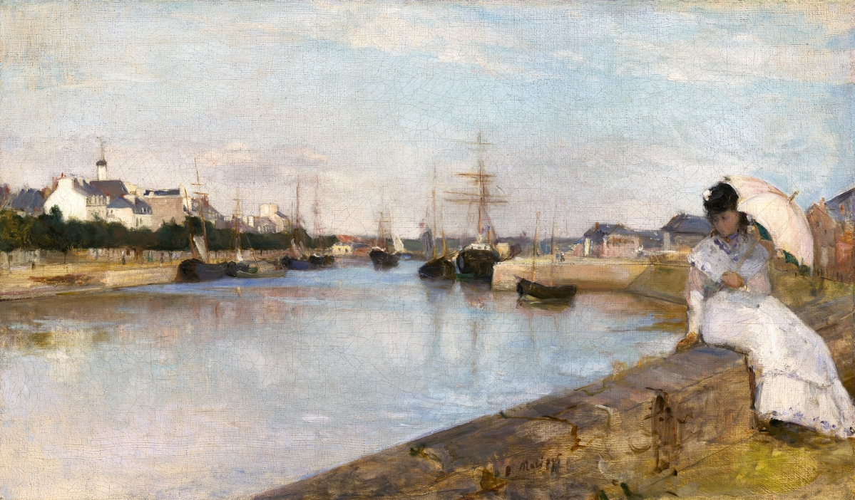 """The Harbor at Lorient (Seascape)"" by Berthe Morisot, 1869. Oil on canvas. National Gallery of Art, Washington, DC, Ailsa Mellon Bruce Collection. Photo courtesy of National Gallery of Art."