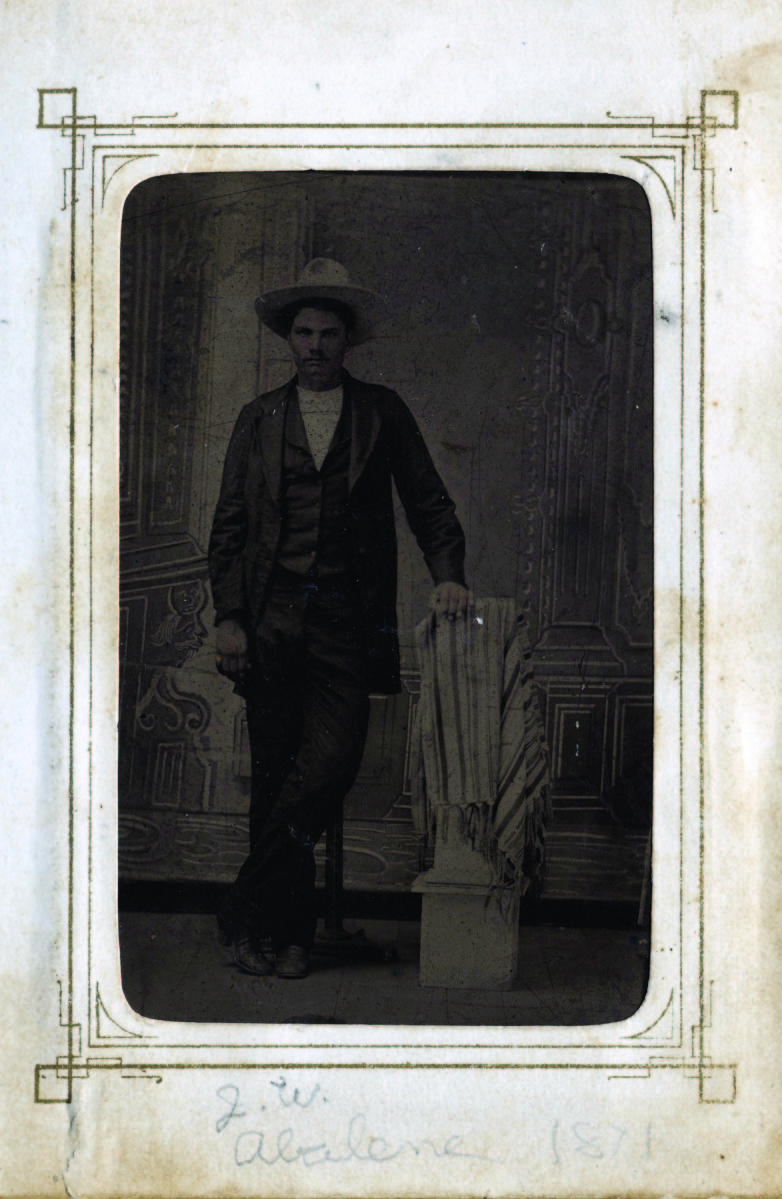 The top lot of the night was outlaw John Wesley Hardin's personal photo album containing this rare tintype of Hardin himself. It sold for $129,800, well over its low estimate of $75,000.