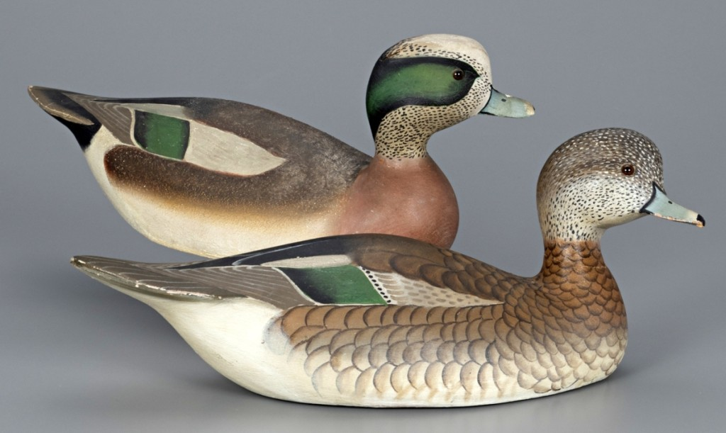 The Bishops Head Wigeon pair reunited mates that had been separated for years and soared well above the $125/$175,000 estimate to sell for $228,000, the top overall price in the sale.