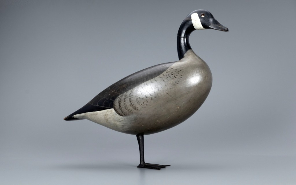 Obtained circa 1967 by major Midwest decoy collector William Humbracht of Bartlett, Ill., Charles S. Schoenheider Sr's (1854–1924) Standing Goose exhibited grand presence and crossed the auction block at $108,000.
