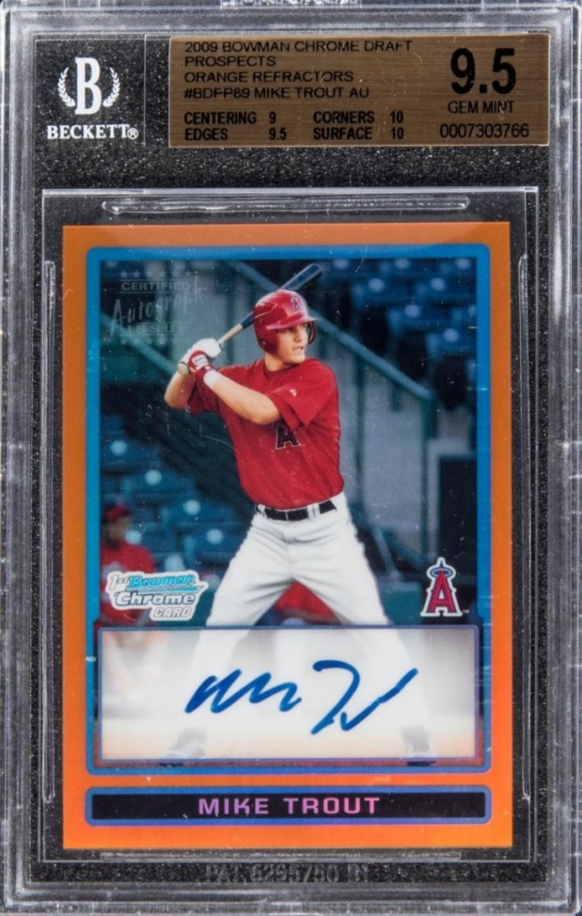 AB Goldin Mike Trout Card