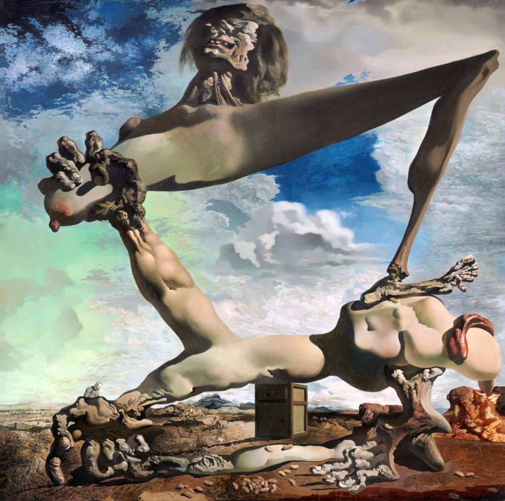"""Soft Construction with Boiled Beans (Premonition of Civil War)"" by Salvador Dalí, 1936. Philadelphia Museum of Art: The Louise and Walter Arensberg Collection, 1950 ©Salvador Dalí, Fundació Gala-Salvador Dalí, Artists Rights Society."