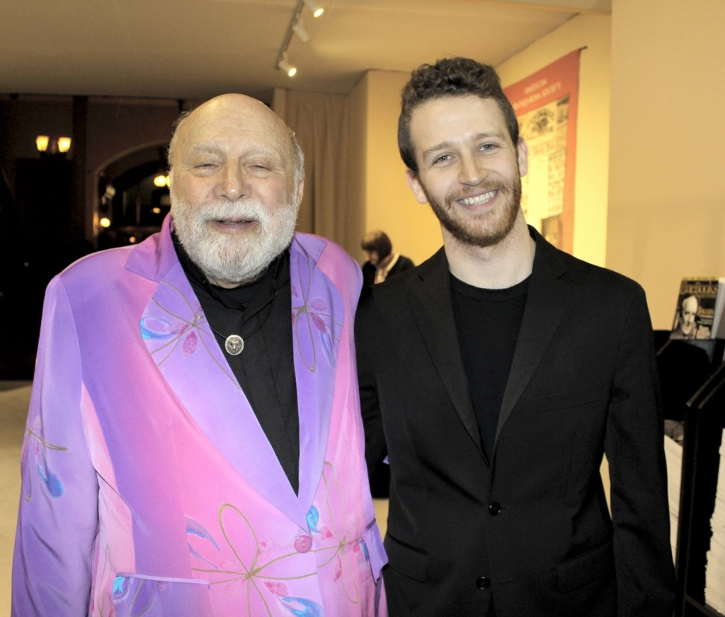 Show manager Sanford Smith and his son, Luc Bokor-Smith, freshly minted grad from Brown University who is forging his own creative path in electronic music and LED installations.