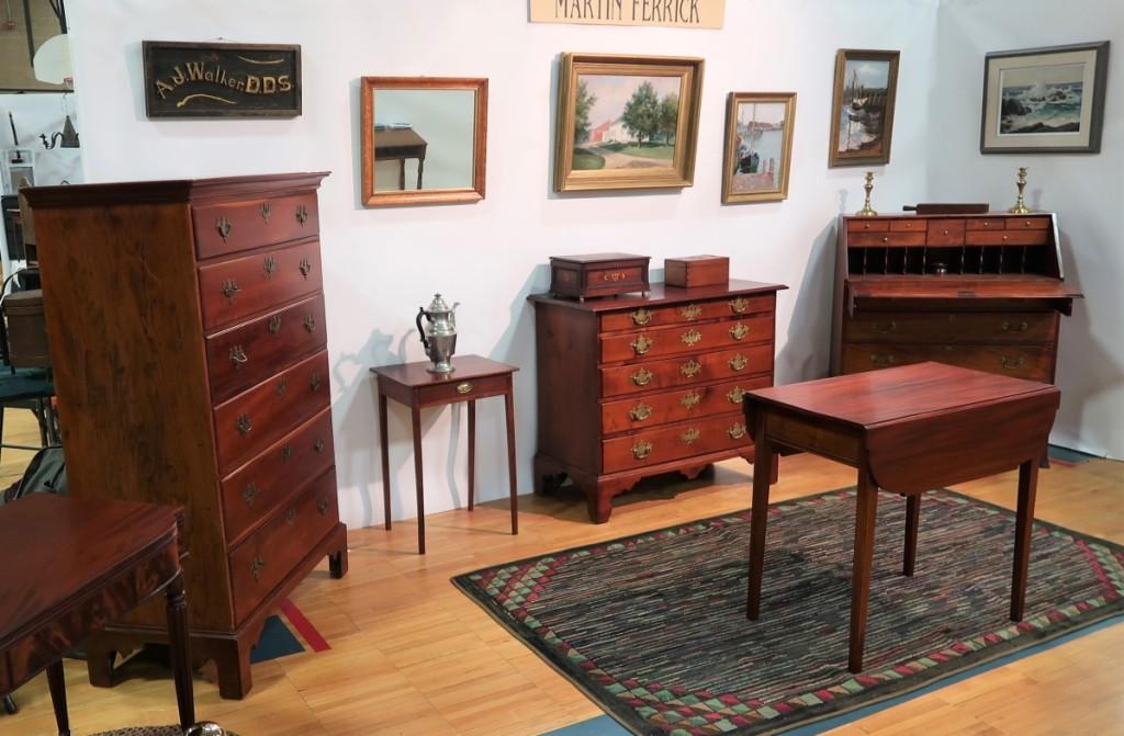 Martin J. Ferrick Antiques, Lincolnville, Maine.