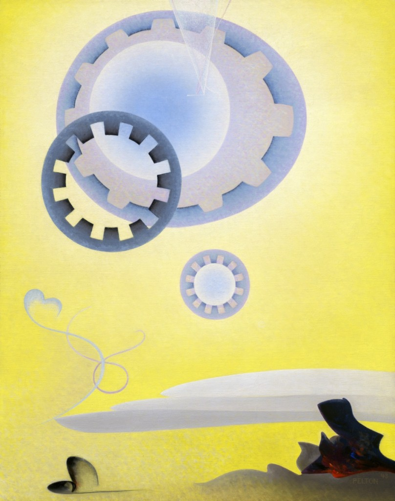 """Prelude"" by Agnes Pelton, 1943, oil on canvas. Museum of Fine Arts, Boston; The Hayden Collection – Charles Henry Hayden Fund and Tompkins Collection – Arthur Gordan Tompkins Fund. ©2018 Museum of Fine Arts, Boston."