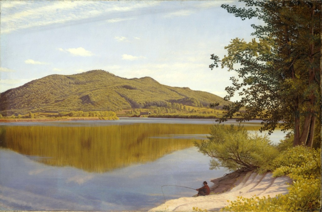 """""""Mount Tom"""" by Thomas Charles Farrer, 1865. Oil on canvas, 16 by 24¼ inches. John Wilmerding Collection."""