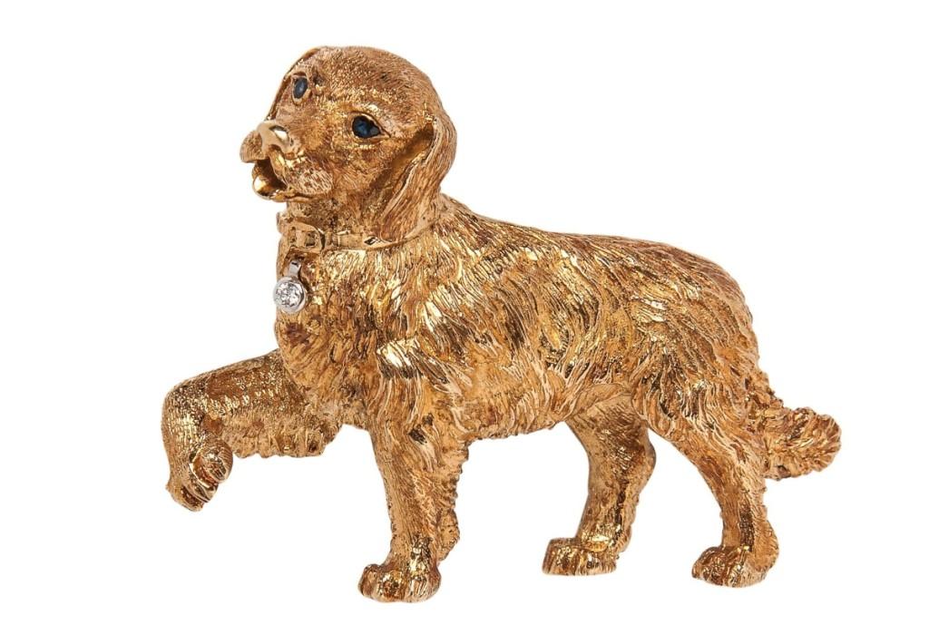 AB Skinner Dog Brooch