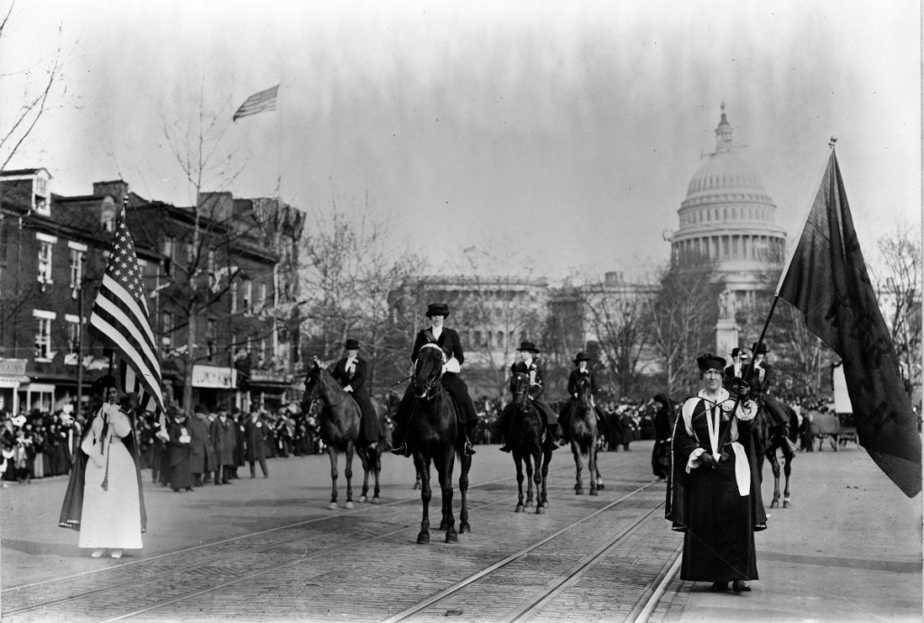 Head of Suffrage Parade, Washington D.C., 1913, LMMM Permanent Collection.