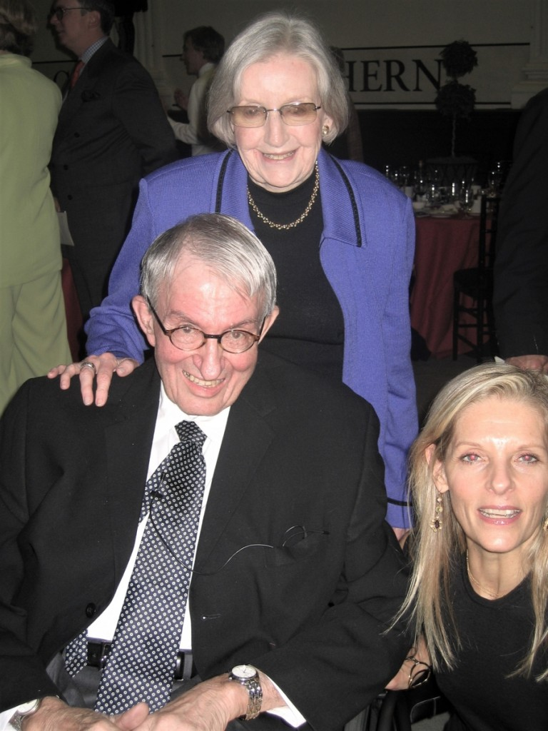 Marguerite with Wendell Garrett and Sandra Brant at the 2008 American Folk Art Museum gala honoring the Riordans and Jerry and Susan Lauren.