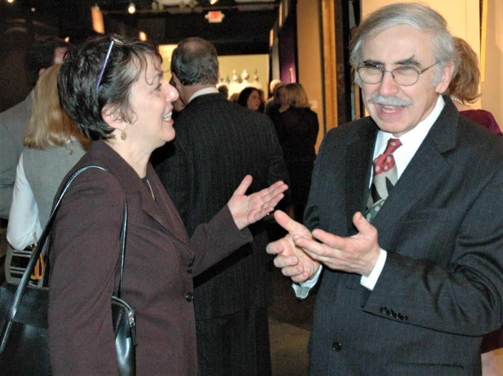 Amy Finkel and Elliott Snyder both exhibited at the ADA's first antiques show in 1985 and have been active in the group from its start.