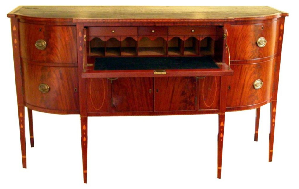 Sideboard, attributed to the shop of Joshua Cumston and David Buckminster, circa 1809–16, Saco. Gift of the Estate of George Addison Emery.