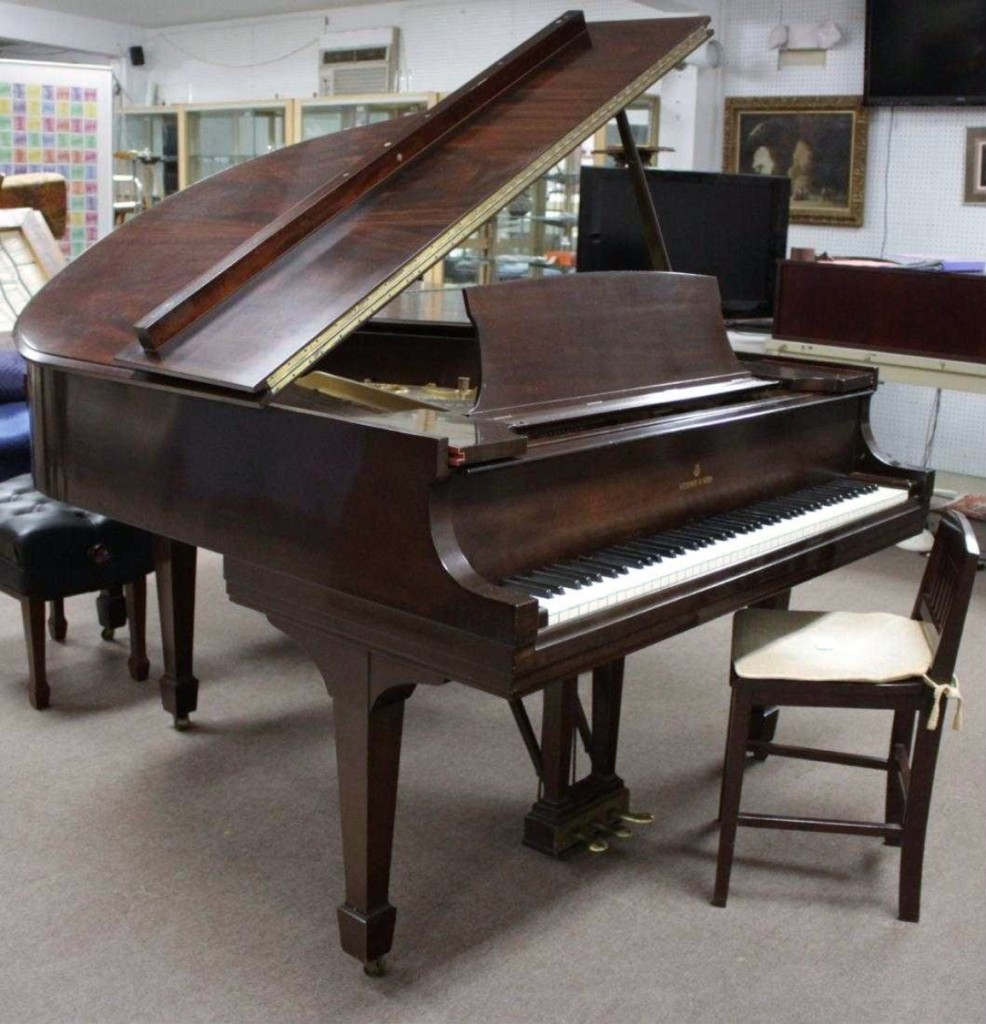 Steinway Model S Piano with stool, #305285