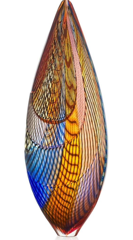 The second highest result in the glass section came in this Lino Tagliapietra Makah vessel, circa 2006, that brought $38,750.
