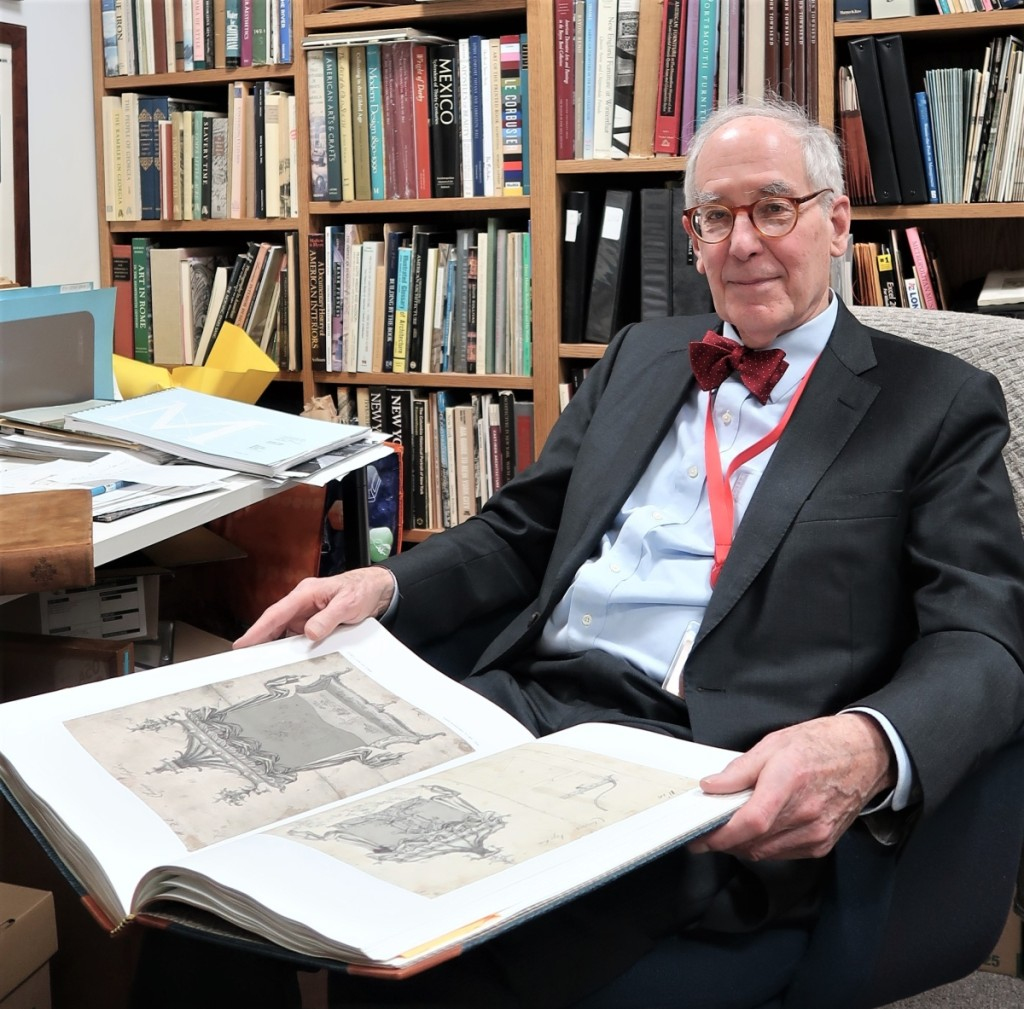 Morrison H. Heckscher, curator emeritus of the American Wing, Metropolitan Museum of Art, undertook the publication of Chippendale's drawings in honor of the 300th anniversary of the cabinetmaker's birth in 2018. He first saw the drawings in the Met's prints department in the 1960s.
